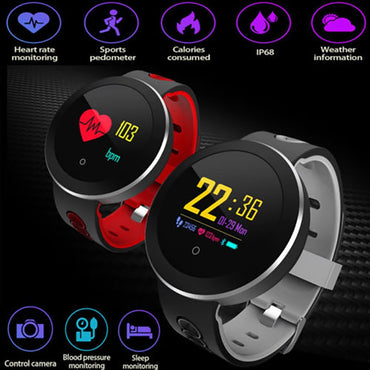 USB Charging Smart Watch Men Health Management Smart Wristband Heart Rate Fitness Tracker for Android IOS Electronic Wrist Watch