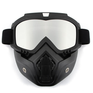 Dust-proof Cycling Bike Full Face Mask Windproof Winter Warmer Scarf Bicycle Snowboard Ski Masks with Anti-UV Glasses Men Women