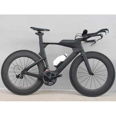 Carbon Time Trial Complete Bicycle Full Triathlon TT Bike 22 speed 105/R8000 Group Set TT Bicycle Bike Frame Size 48/51/54,cm
