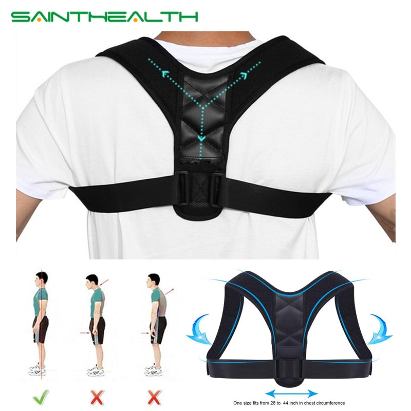 Medical Adjustable Clavicle Posture Corrector Men Women's Upper Back Brace Shoulder Lumbar Support Belt Corset Posture Correction