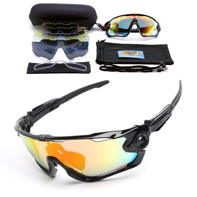 5 Lens Polarized Cycling Glasses Sport Cycling Sunglasses Men