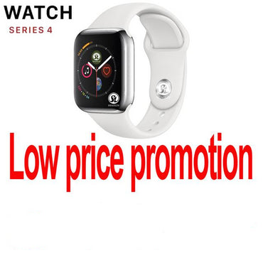 Smart Watch Series 4 Smart Watch Case For Apple iPhone Android Smart phone Heart Rate Monitor Pedometer (Red Button)