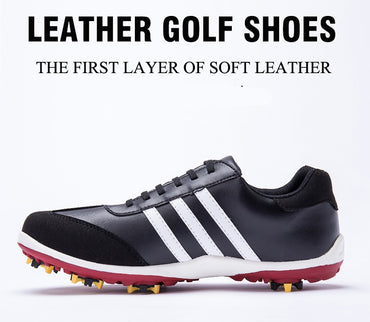Patent Golf Shoes Men's Leather Shoes Laces Send Activities Nail Automatic Revolving Spikes Breathable Golf Shoes