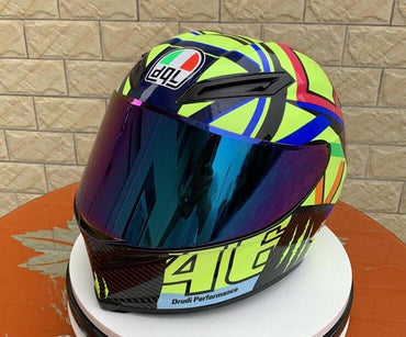 Motorcycle Helmet Men's And Women's Helmets All Over The Four Seasons Style Cool Motorcycle With Tail Wing Racing Helmet