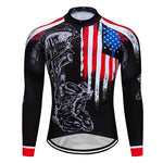 2019 USA Cycling Jersey Set Bicycle Clothes Wear Bike Clothing MTB Uniform Breathable Men's Long Maillot Culotte