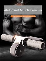 Ab Roller Fordable No Noise ABS Abdominal Muscle Trainer for Fitness Reduce Weight Abdominal Muscles Training  Stimulation