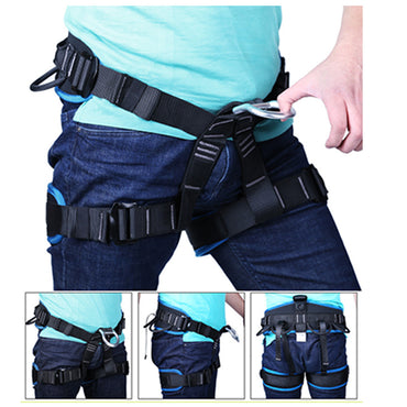 Camping Outdoor Hiking Rock Climbing Half Body Waist Support Safety Belt Harness Aerial Equipment Mountaineering Rock Climbing