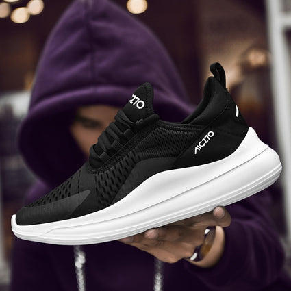 Times New Male Shoes Adult Spring Casual Men Sneakers Fly knit Sweat-Absorbent Fashion Men Walking Footwear