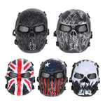 Outdoor Airsoft Mask Paintball Full Face Exercise Mask Protection Training Face Cover Workout Mask For Men Outdoor Sports Games