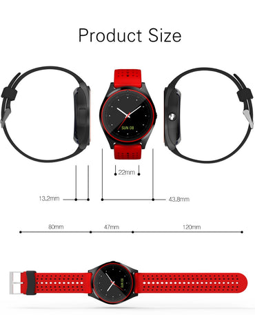 Bluetooth Smart Watch V9 with Camera Smartwatch SIM Card Pedometer Health Sport Clock Men Women Smartwatch For Android IOS