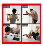Door Horizontal Bars Steel 200kg Adjustable Home Gym Workout Exercise Upper Limb Strength Pectoral Muscles Wrist Force Arm