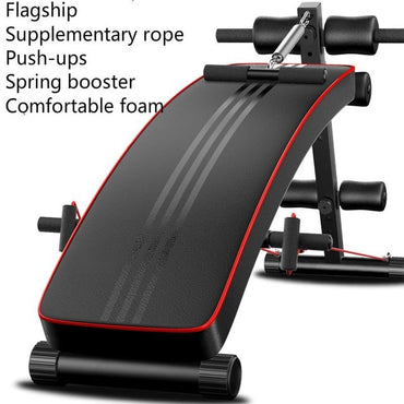 Household Fold Multi-Functional Supine Board, Home Folding Abdominal Muscles Ab Bench, Sit-Up Bench Abdominal Board Sit-Ups