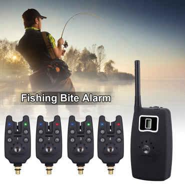 JY-19 Wireless Fishing Bite Alarms Set Digital LED Fishing Indicator Adjustable Tone Volume Sensitivity Sound with Box
