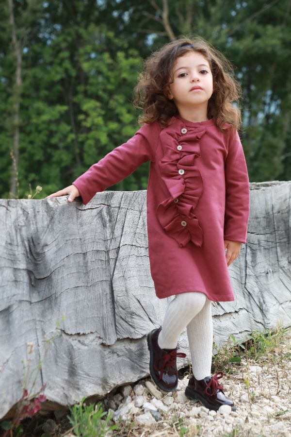 Abito con rouge Bordeaux - 3046