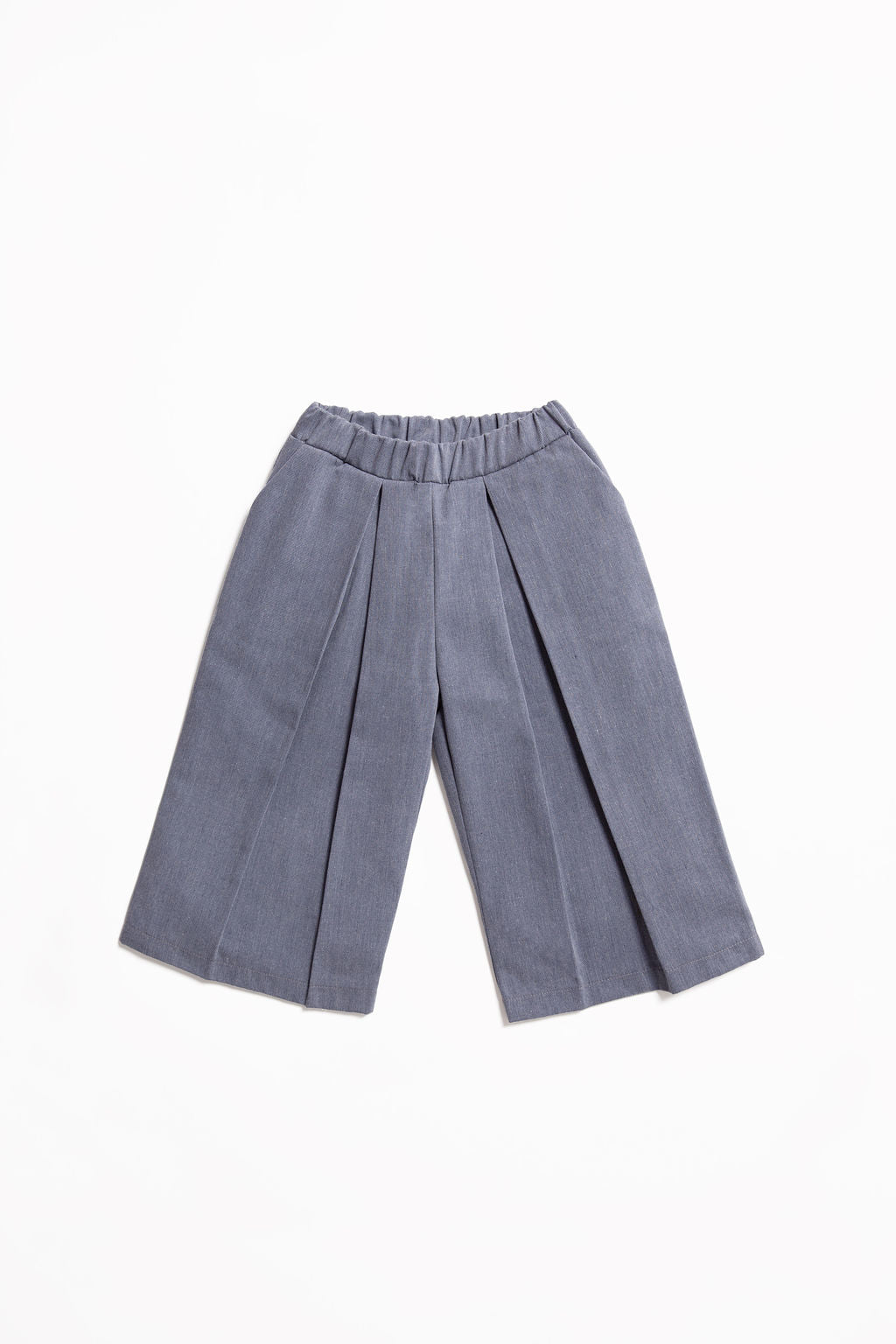 Pantaloni con pences in denim riciclato