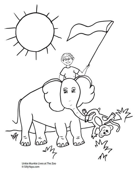 Unkie Munkie Coloring Sheets