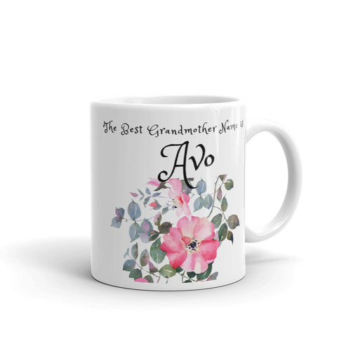 Avo, The Best Grandmother Name Mug
