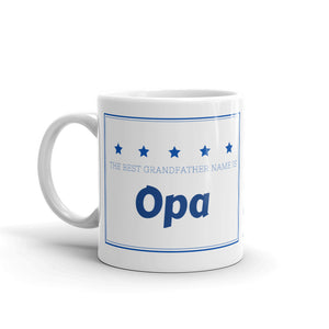 Opa, The Best Grandfather Name Mug