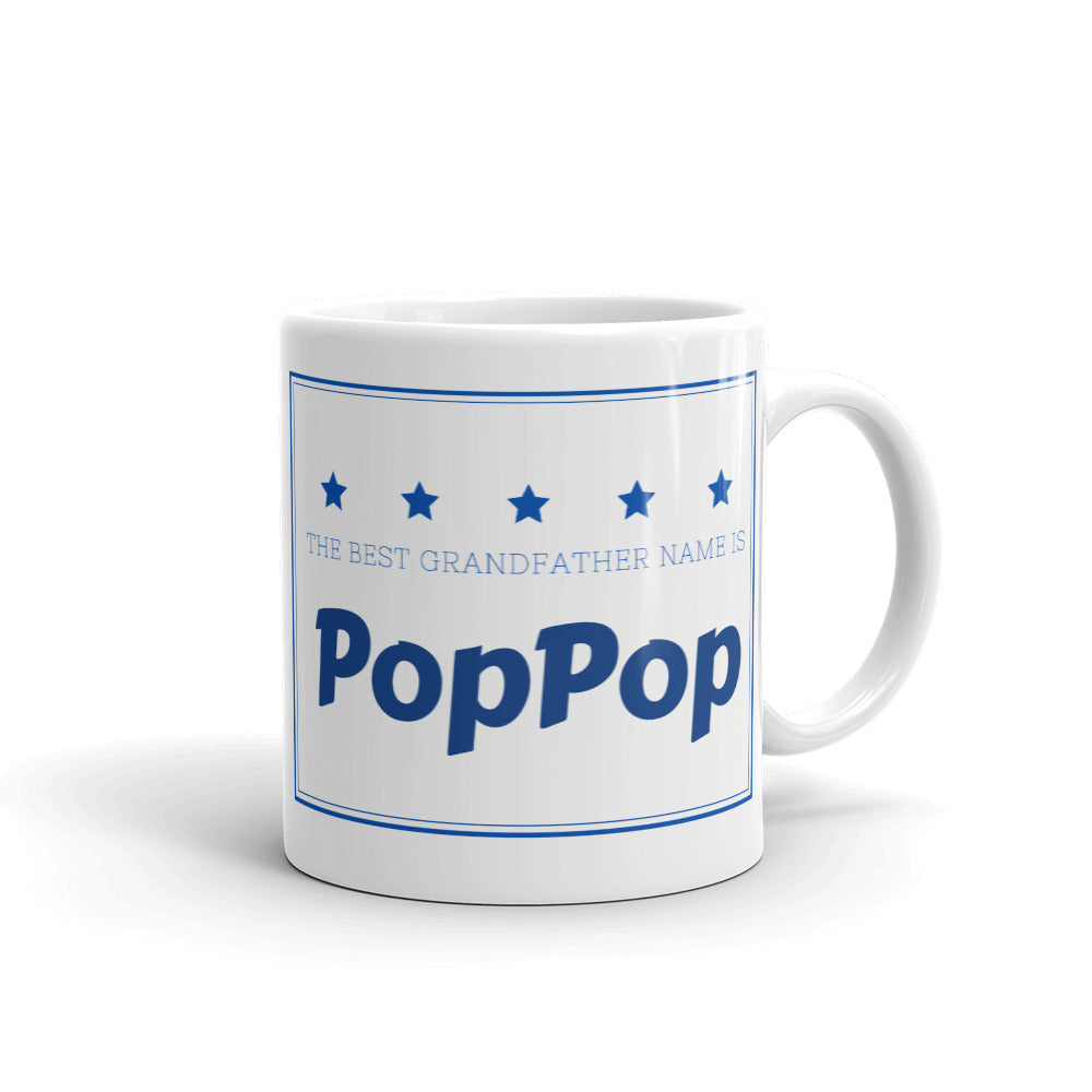 PopPop, The Best Grandfather Name Mug