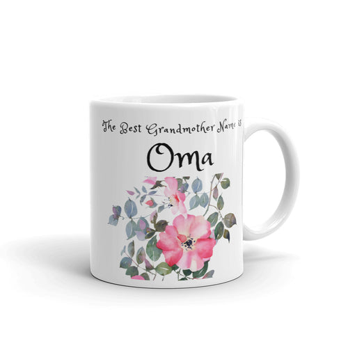 Oma, The Best Grandmother Name Mug