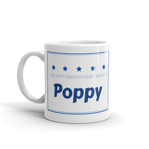 Poppy, The Best Grandfather Name Mug