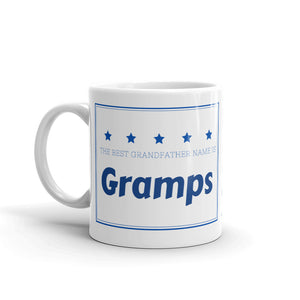 Gramps, The Best Grandfather Name Mug