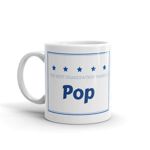 Pop, The Best Grandfather Name Mug