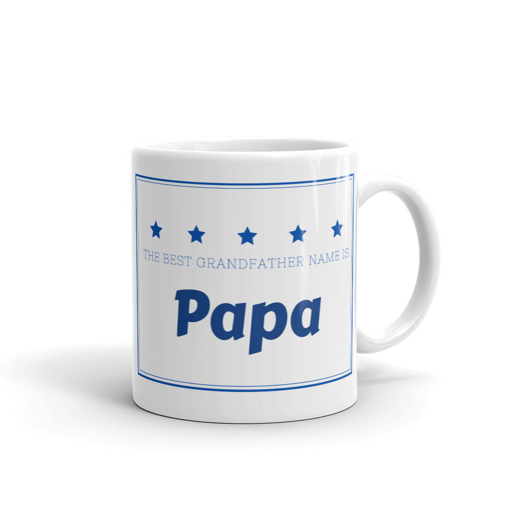 Papa, The Best Grandfather Name Mug