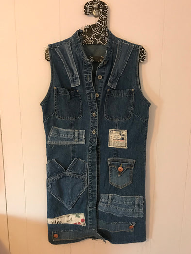 UPCYCLED DENIM MINI