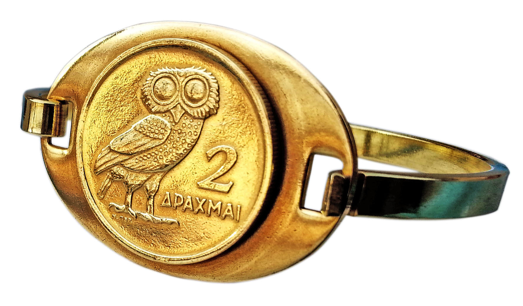 Greek Owl Cuff Bracelet