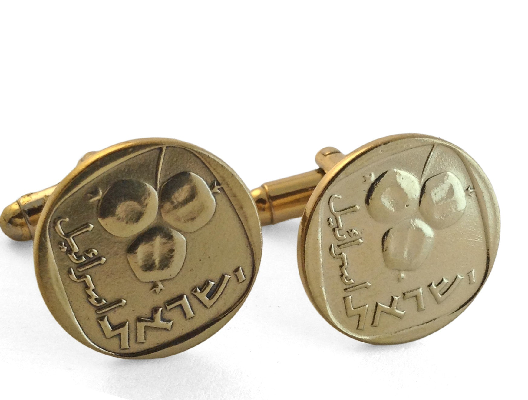 Israeli Pomegranates Cuff Links (Gold Plated)