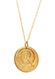 Irish Tiny Half Pence Necklace (Gold Plated)