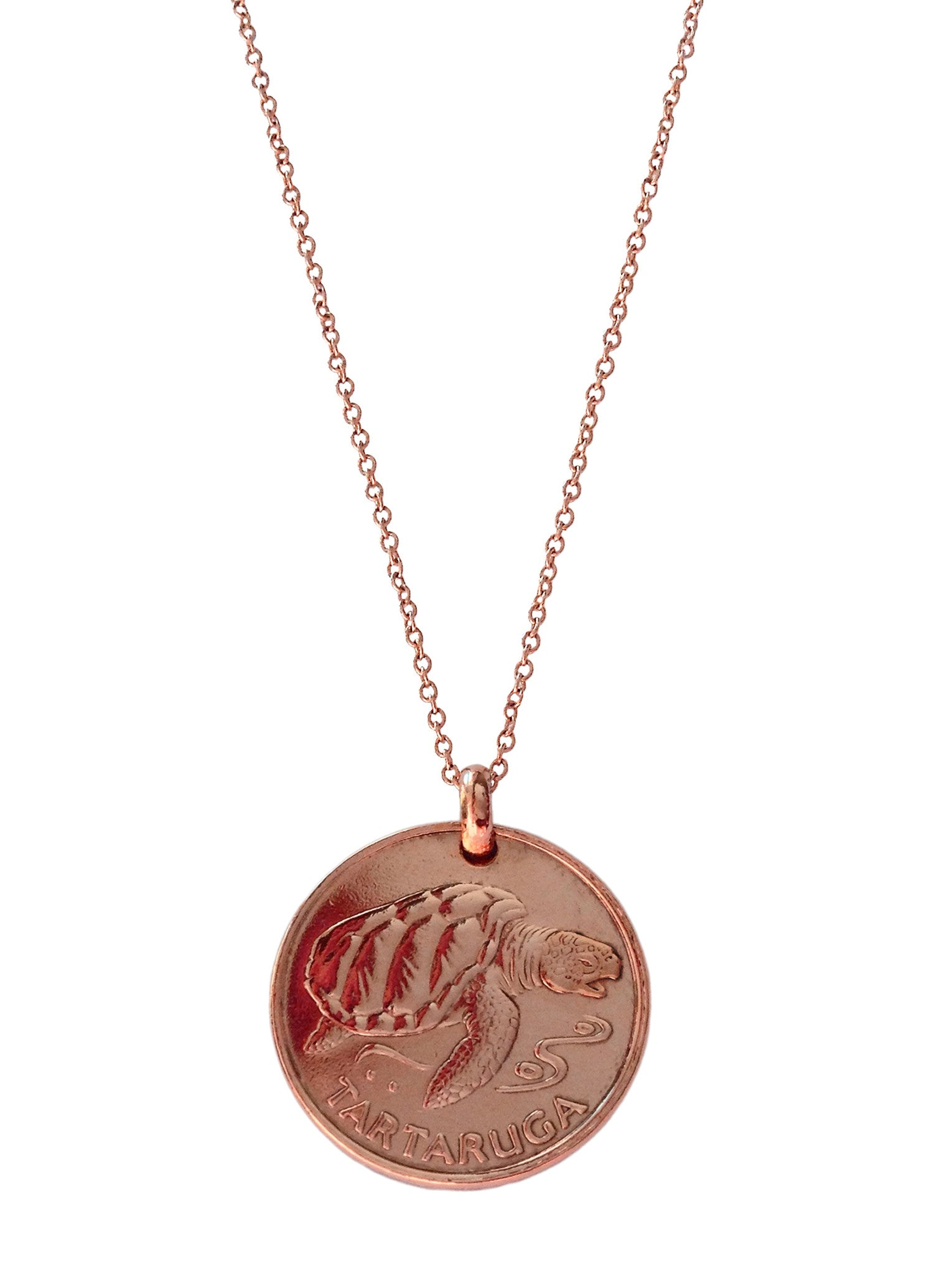 Cape Verde Sea Turtle (Rose Gold Plated)