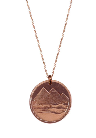 Egypt Pyramids (Rose Gold Plated)