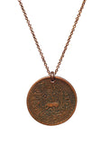 Tibetan Snow Lion Copper Coin Necklace (1918-1928)