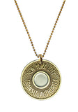 "NYC ""Bullseye"" Subway Token Necklace"