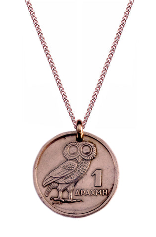 Greek Owl (Rose Gold Plated)