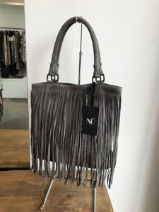 NU Grey Fringed Bag
