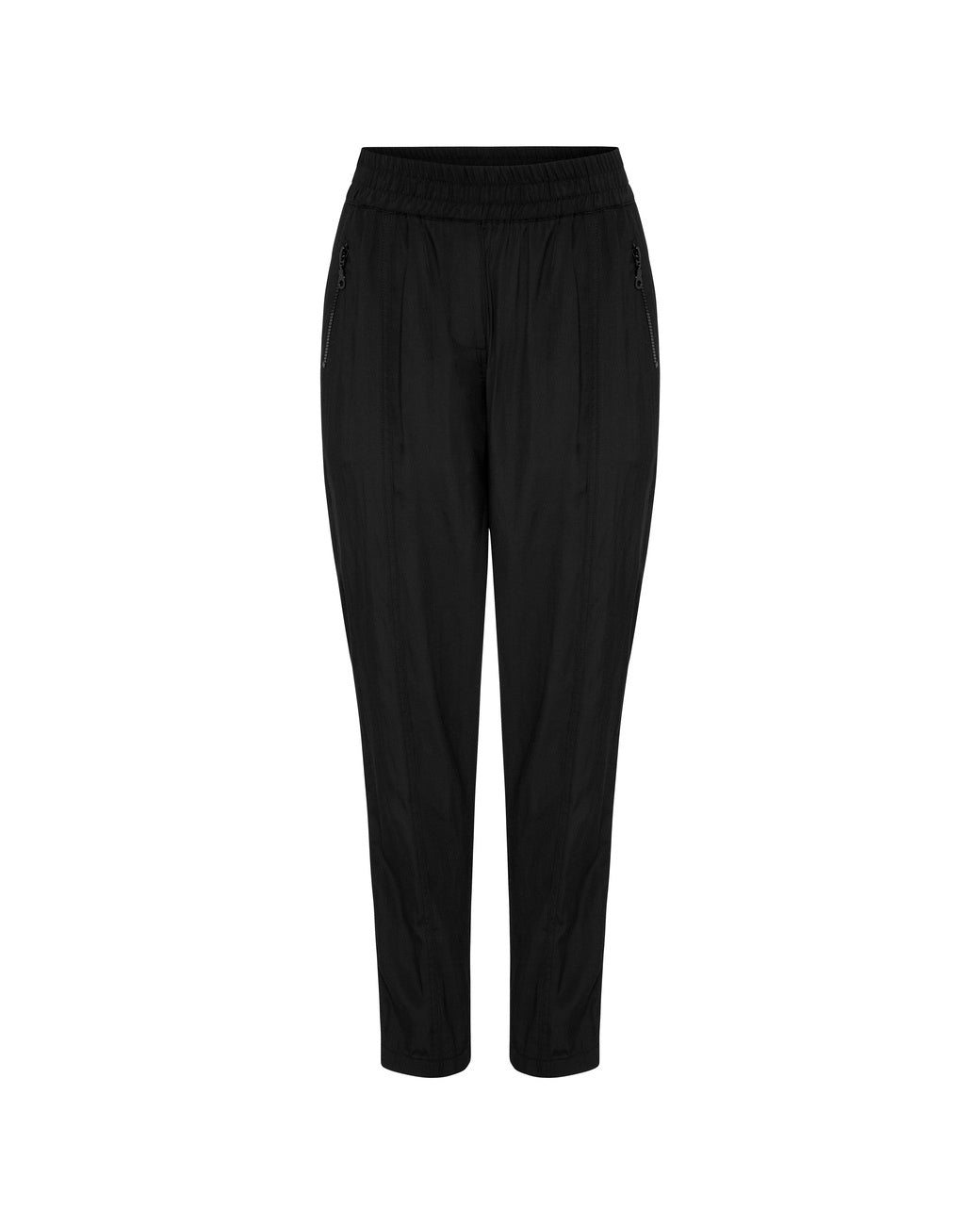 Mela Soft Zip Pant Black