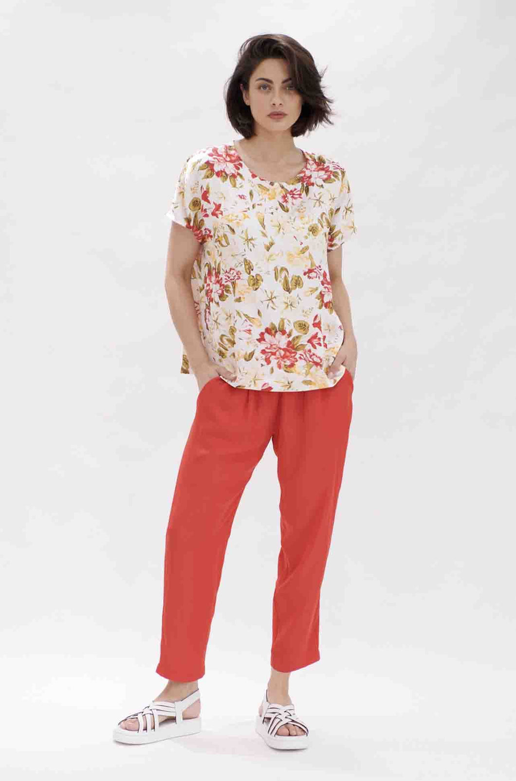 Mela Purdie Soft Capri In Flame