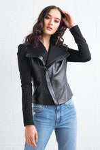 Load image into Gallery viewer, Texas Johnny Leather & Ponte Jacket