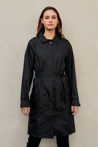 PAQME 'TRENCH' RAINCOAT IN BLACK