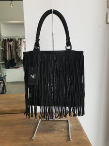 NU Black Fringed Bag