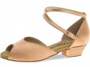 Diamant 022-030-094 Tan satin girls shoe