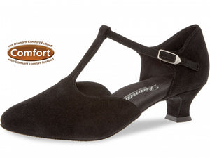 Diamant 053-014-001 Black Suede Wide Fit