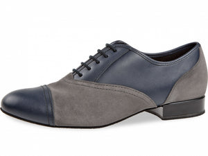 Diamant 077-025-445 navy-blue leather / grey suede