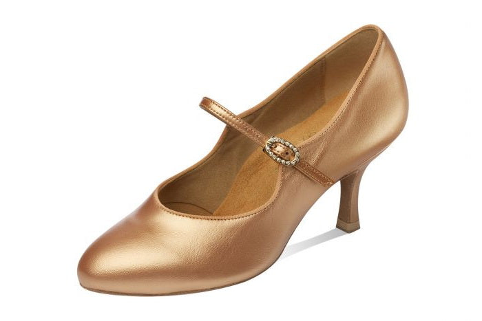 Supadance 1012 Ladies Closed Toe Sateen Leather Shoe