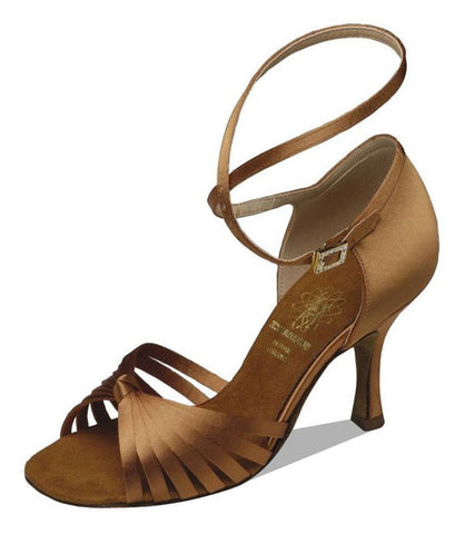 Supadance 1063 Dark Tan Satin sandal