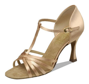 Supadance 1401 Ladies Open Toe Satin sandal with T-bar