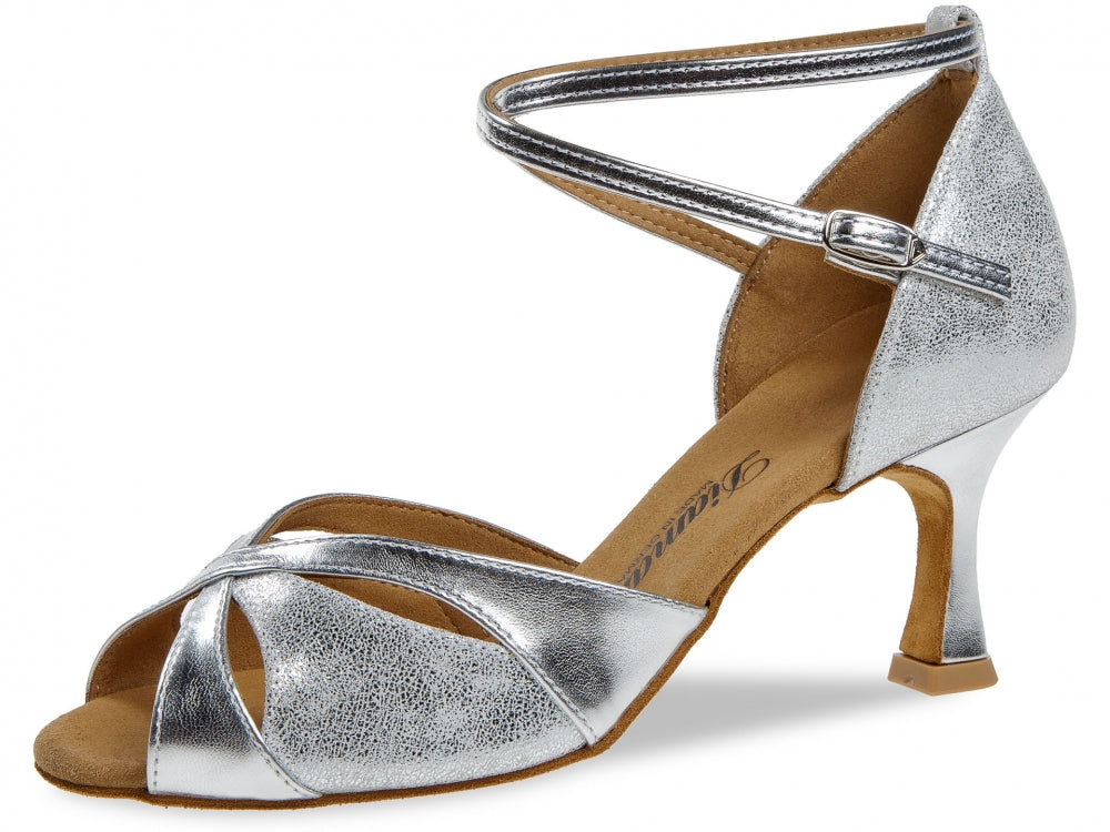 Diamant 141-087-463 Silver Synth/Antique Suede 2.5inch Flared Heel